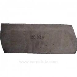 Brique droite de foyer P0020934 pour cuisinière bois charbon Deville , reference DV02093400