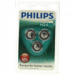 Grille de rasoir par 3 Philips quadra action, reference HQ6