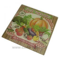Dessous de plat en verre trempé sérigraphié décor légumes , reference CL28000060