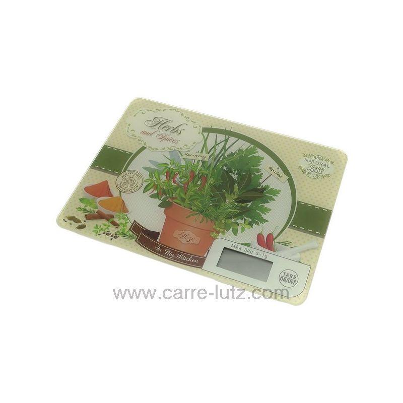 balance de cuisine lectronique extra plate d cor herbes et pices. Black Bedroom Furniture Sets. Home Design Ideas
