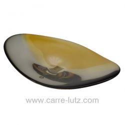 Coupe cristal de Bohème noire et ambre