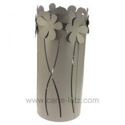 Porte parapluie en métal peint époxy gris fleur gris Mascagni , reference CL83000058