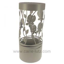 Porte parapluie en métal peint époxy gris hibou gris Mascagni , reference CL83000060