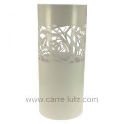 Porte parapluie en métal peint époxy blanc rose blanche Mascagni , reference CL83000063