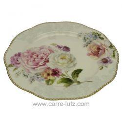 Assiette à dessert en porcelaine fine bone china décorée Romantic Lace