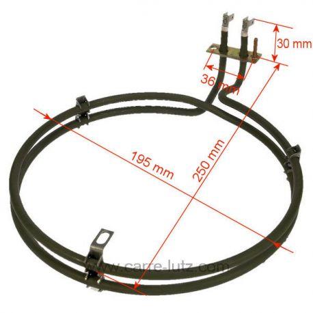 8996619128805 r sistance circulaire 2500w de four. Black Bedroom Furniture Sets. Home Design Ideas