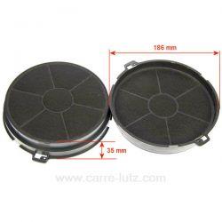 2 Filtres de hotte charbon actif EFF73 CHF187 ST30F 188 mm EFF73 Faber C00081379 Ariston Indesit Scholtes 50290662001 Electro...