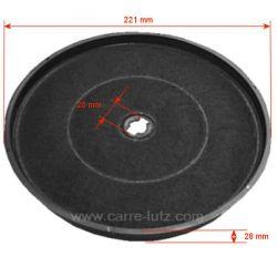 Filtre charbon actif diamètre 220 mm attache à baionnette de hotte aspirante , reference 701059