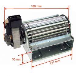 Ventilateur tangentiel 120 mm moteur à gauche 1 vitesse, reference 231038