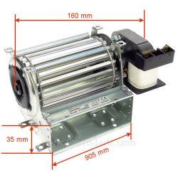 Ventilateur tangentiel 90 mm moteur à droite 1 vitesse, reference 231048
