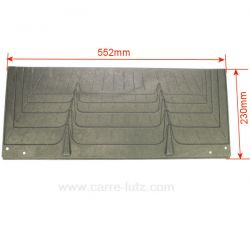 Plaque arrière P0020180 pour foyer insert Deville 7660 7661 7670 7706 7794 7795 7796 7831 7856 7857 7873 CO7660 CO7661 CO7670...