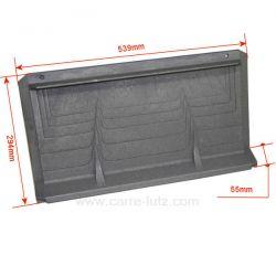 Plaque arrière P0020332 pour foyer de cheminée Deville 7835 7869 7871 7872 7874 7875 7876 7877 7880 7884 CO7835 CO7869 CO7871...