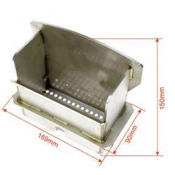 Creuset inox P0026925 pour poele a granulé Deville C077GD , reference DV0026925