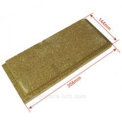 Brique gauche ou droite basse P0047165 de foyer pour cuisinière bois charbon Deville 8634 8633 8634 8641 8643, reference carr...