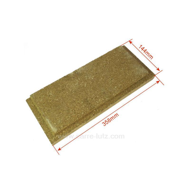 P0047165 brique gauche ou droite basse de foyer pour for Brique refractaire pour foyer