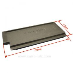 Plaque de foyer arrière droite 1016837550010168375501 pour convecteur Godin Grand Régence 3755 , reference 704839