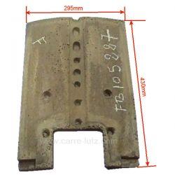 Brique arrière 124050701 de convecteur Franco Belge 105227, reference FB105227