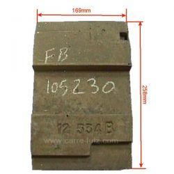 Supplement de brique avant 12534B de convecteur Franco Belge 105230, reference FB105230