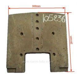 Brique arrière 1240301 de convecteur Franco Belge 105236, reference FB105236