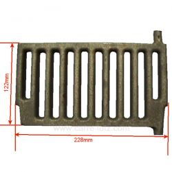 Grille de face 1240501074 de convecteur Franco Belge 307420, reference FB307420