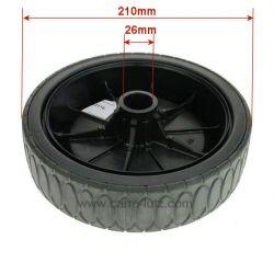 Roue 210 mm de tondeuse à gazon GGP Castelgarden 381007337/0 , reference 9983116