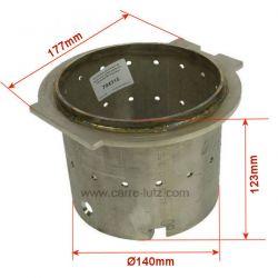 Pot bruleur ou creuset de foyer pour poele a granulé Caminetti Montegrappa
