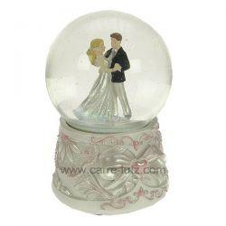 Boule à neige jeunes mariés , reference CL50231155