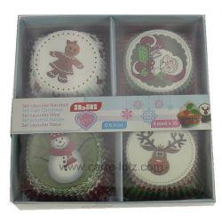 Set de 100 moules papier cupcakes décor Noël