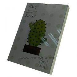 Cadre photo 21 x 29.7 cm sous verre bord blanc