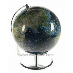 Globe terrestre diamètre 25 cm bleu