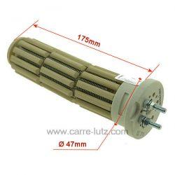 Résistance de chauffe-eau stéatite 47X175 mm 750W monophasé Diamètre : 47mm Longueur : 175mm , reference 703601