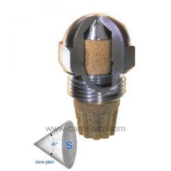Gicleur inox Fluidics 0,35 Gph 45° SF , reference 6025007