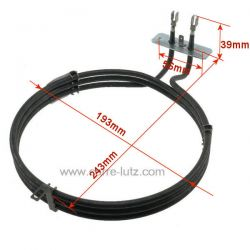 Résistance circulaire 2800W 00481853 Bosch C00141180 Ariston