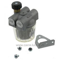 Filtre à fioul 2 voies avec robinet d arrêt 3/8 de pouce , reference 6027002
