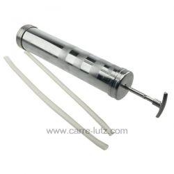 Seringue de vidange en métal avec tuyau d'aspiration