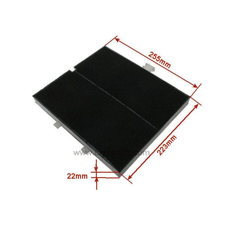 filtre de hotte charbon actif type 256 00361047 de hotte. Black Bedroom Furniture Sets. Home Design Ideas
