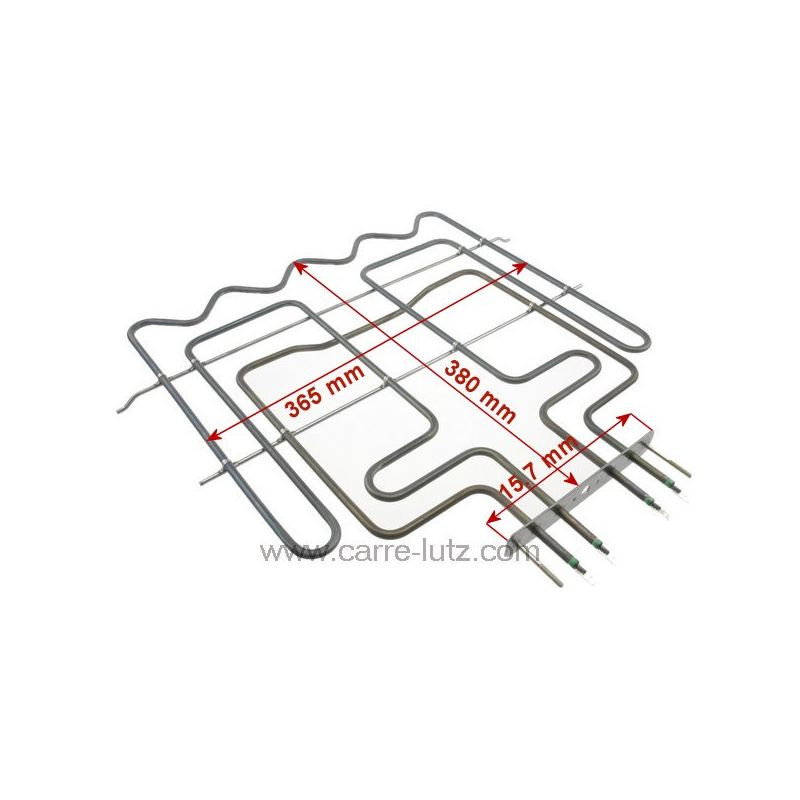 r sistance de sole 2850w 230v 481225928873 whirlpool ref 20390003. Black Bedroom Furniture Sets. Home Design Ideas