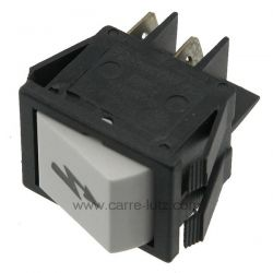 Interrupteur poussoir bipolaire 16A 220V 22x30mm , reference 220106