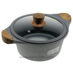 Faitout fonte d'aluminium 24 cm Stilo Lacor 27324 en fonte d'aluminium d'une seule pièce garantie une résistance maximale et ...