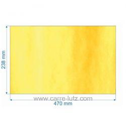 Vitre réfractaire Vitrocéramique 470x238 mm Epaisseur 4 mm de poêleGodin Ref. 00001308496  366713 Revin BC1 366718 , referen...