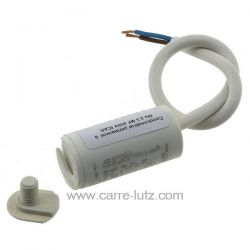 Condensateur permanent  à fils 2,5 MF 450V ICAR Dimensions : Ø25x51mm cable 250mm , reference 23090103