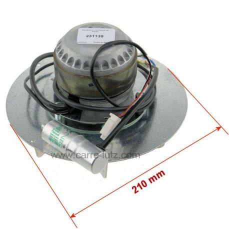Ventilateur extracteur de fumée de poele a pellet RE180-AV82-15 16 , reference 231139