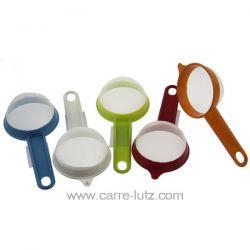 Passoire maille fine en nylon 7.5 cm diamètre : 7.5 cm longueur totale avec manche : 18 cm en plastique et nylon S'adapte fac...