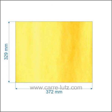 Vitre réfractaire Vitrocéramique 372x329 mm AX686191A Invicta CHAMBORD 619100 OXO INOX 619300 OXO NOIR 619304 SEVILLE 619200 ...