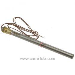 Bougie ou Résistance 330W 12,5 mm longueur 153 mm de poêle à pellet HT53640 Diamètre 12,5 mm Longueur sous écrou 195mm avec ...