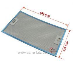 Filtre à graisse métal 460x278 mm 93953438 de hotte aspirante Rosieres , reference 70190020