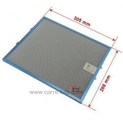 Filtre à graisse métal 305X267 mm GRI0097953A de hotte aspirante Elica , reference 70190021