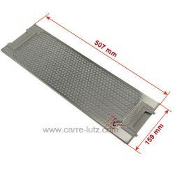 Filtre à graisse métal 507x158 mm 50263849007 50242724008 8996600129838 8996600126966 de hotte aspirante Electrolux , referen...