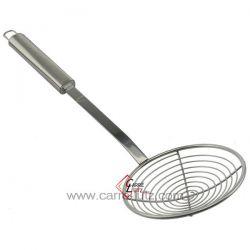 Ecumoire à frite inox diamètre 12 cm longueur manche 25 cm , reference CL50150837