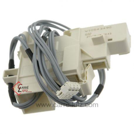 Verrou de porte avec cablage 481010552846 de lave linge Laden Whirlpool 00636673 Bosch Siemens , reference 225240